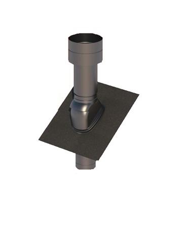 Obrázek Střešní potrubní systém  25-45°/125 černý plastový